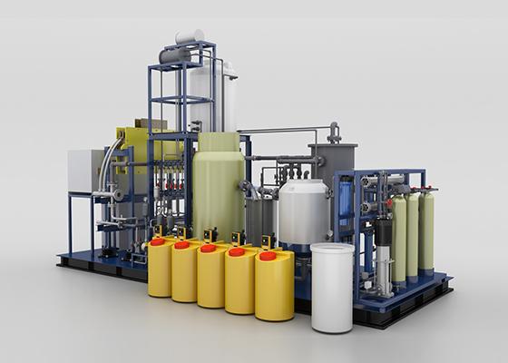 离子膜法电解盐水产生氯气次氯酸钠装置